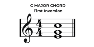 C Major Chord First Inversion