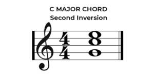 C Major Chord Second Inversion