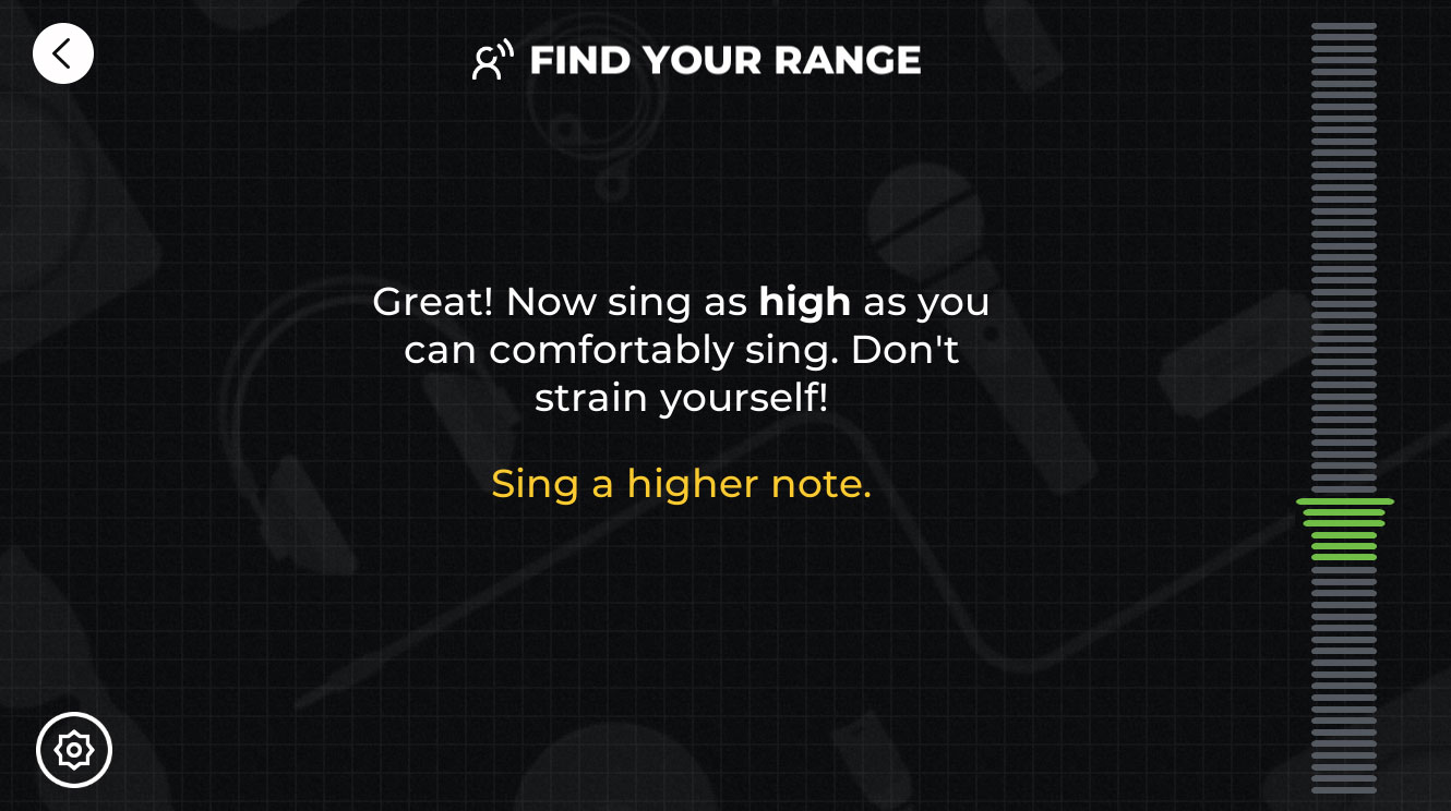 A Vocal Range Finder in Yousician
