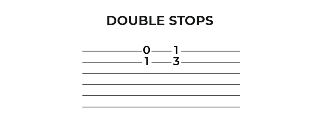 Guitar Tabs Double Stops